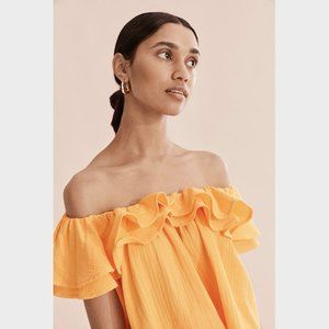 Country Road Yellow Frill Ruffle Top Blouse 14